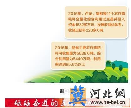 河北省主要农作物秸秆利用率达95.6%以上